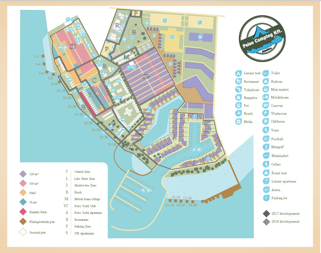 Pelso Camping Map