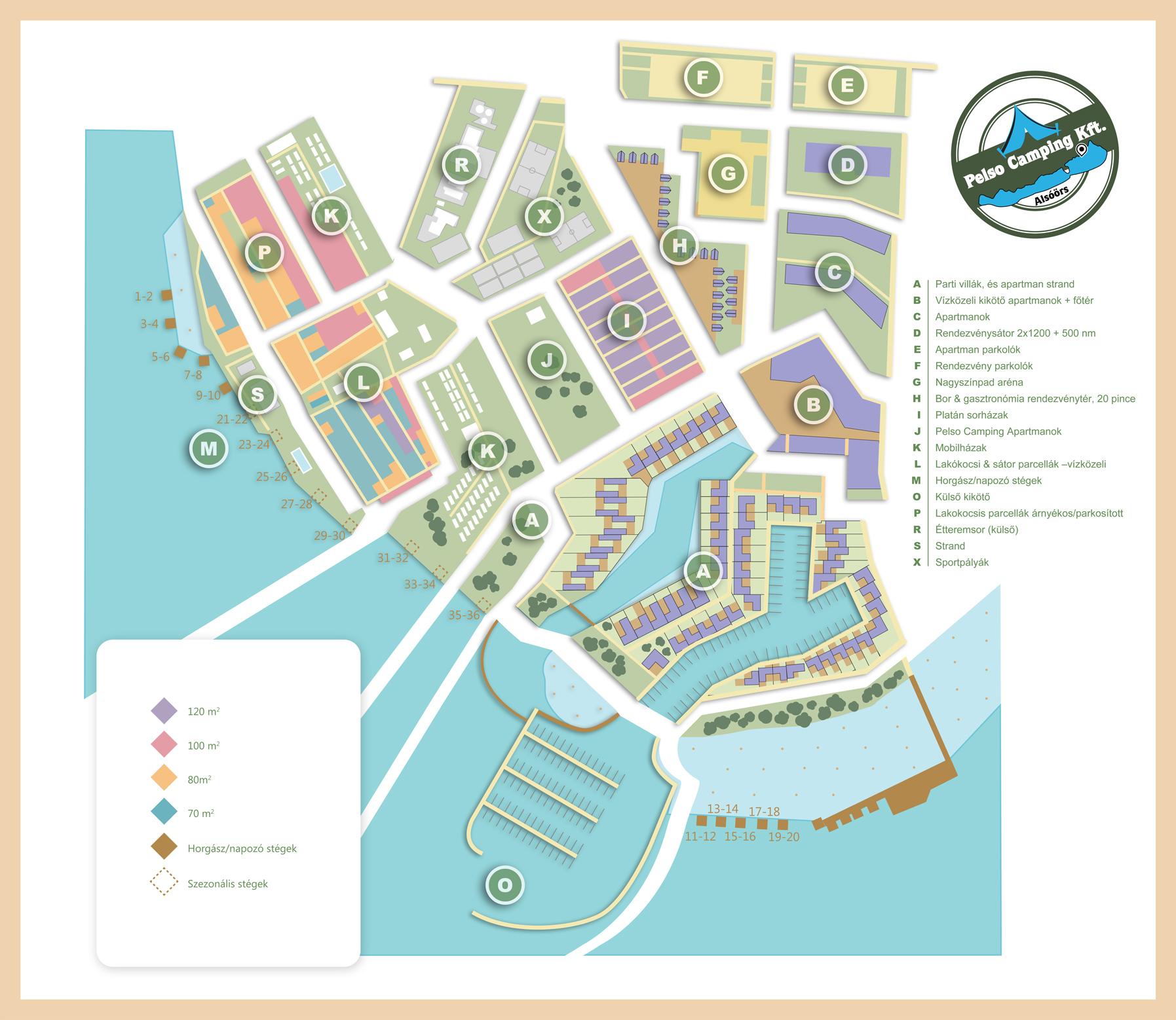 Pelso Camping fejlesztési terv