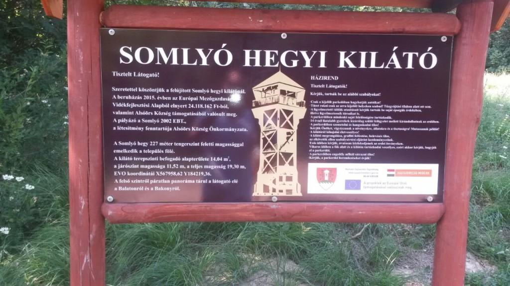 Somlyó-hegyi kilátó tábla