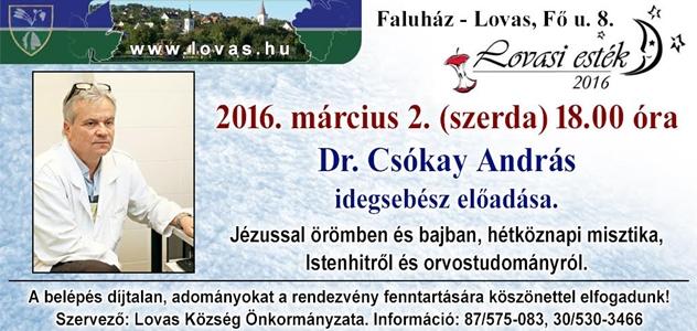 Dr. Csókay András előadása