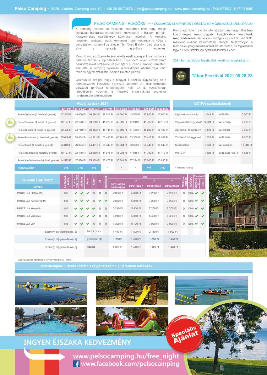 Pelso Camping 2021 katalogus