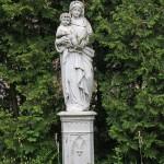Szent Borbála szobor